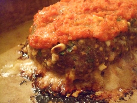 meatloaf w/ gorgonzola and pine nuts
