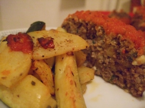 meatloaf and zucchini