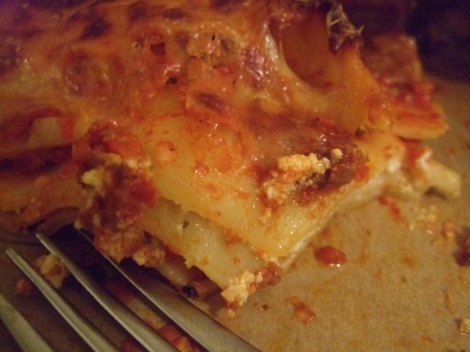 single and starving lasagna