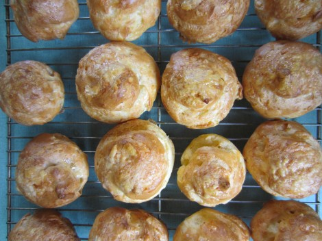 gougeres top view
