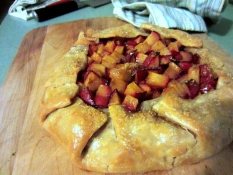 sugar-crust plum galette