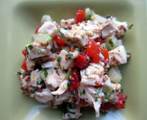 Chicken Salad w/ Grain Mustard and Red Peppers