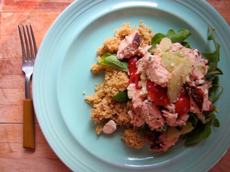 Tomato and Cucumber Salad with Chicken