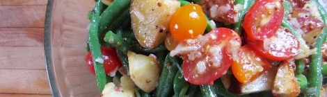 Potato Salad with Green Beans and Tomatoes