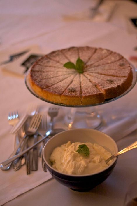 Almond Bergamot Cake with Citrus Cream