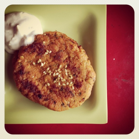 Sweet Potato Falafel with Tahini Yogurt