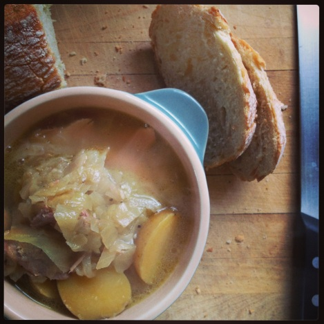 cabbage soup with chicken and potatoes
