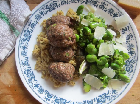 Lamb Kofta and Fava Bean Salad